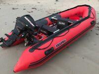 Sea pro 380 Rib with 20hp mercury like new