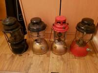 4 x paraffin lamps