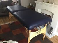 Massage bed, fold up, portable
