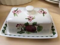 Portmeirion butter dish