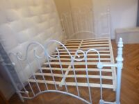 Shabby Chic/Vintage Double Metal Bed frame 4ft6 -Used only 6 months old-in excellent condition £80