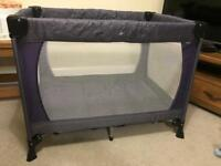 John Lewis travel cot plus quilted mattress cover