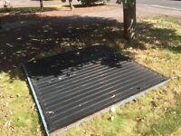 Free metal up and over garrador garage door: works perfectly