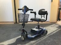 Blue Rio 3 Lite Mobility Scooter - great condition.