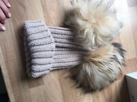 Wooly hat - with pom poms