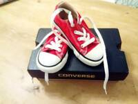 Children's Converse Red All stars Size 8