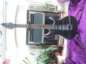 Electric guitar and stand
