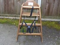 solid wood simple and effective high chairs heavy duty commercial grade