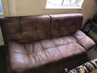 Faux leather/ suede Texas sofa bed by bensons for beds.