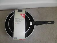 2 Brand New Frying Pans Non-StickTwin set