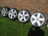 Audi A4 Sline FSI Convertible 4 Alloy Wheels & Tyres - Alloy wheels as new