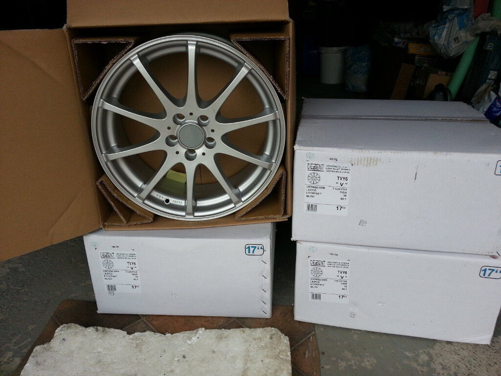 """DEZENT 17"""" inch Alloy wheels 5x100 Seat Cordoba Ibiza Leon Cupra Toledo alloys wheel"""