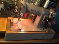 Vintage 1960s Singer 185k heavy duty electric sewing machine and accessories - fully working