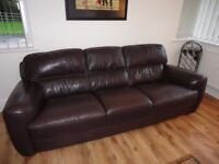 LARGE ITALIAN LEATHER SOFA, 3 SEATER