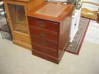 MODERN WOODEN STYLE 2 DRAWER FILING CABINET. LOCK & KEY. VIEWING/DELIVERY AVAILABLE