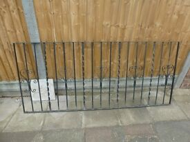 WROUGHT IRON RAILINGS 2 SECTIONS
