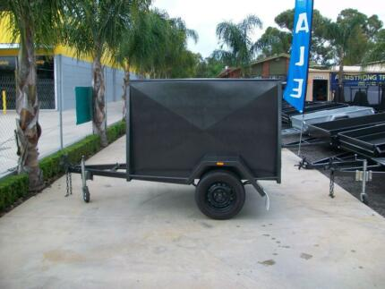 Box Trailer 7 x 4 H/D Van Trailer with 4 Foot Roof Epsom Bendigo City Preview
