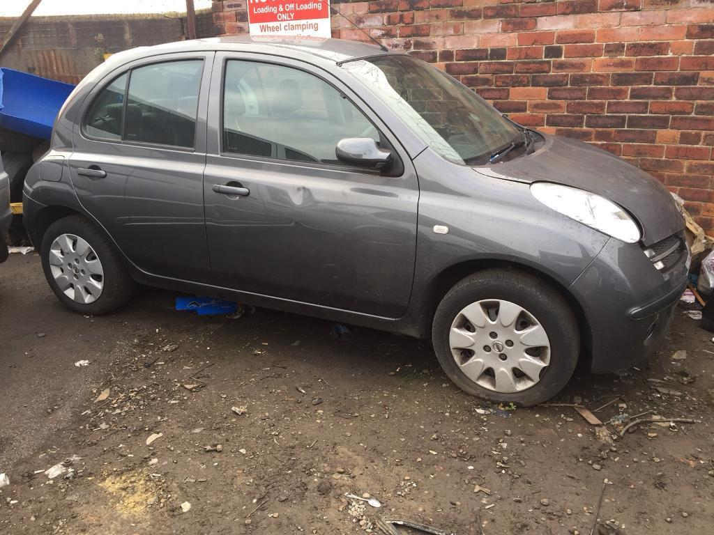Nissan Micra 2007.1.2 automatic 5 doors breaking for parts.