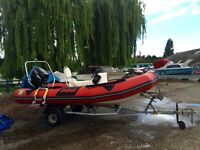 Zodiac Pro 7 Man Rib (2006) with Suzuki 30 HP outboard and Snipe roller trailer