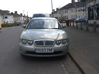 Low Mileage Rover 75. Manual. Good Condition. M.O.T. to Sep 2017. Cash buyers only.