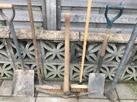Pick/Shovel/Spade/Sledge/Soft Brush/Deck Brush