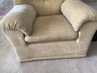 G plan two seater sofa and one matching chair