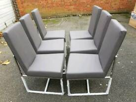 Stone Italia x 6 dining chairs free delivery