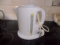 white automatic electric kettle