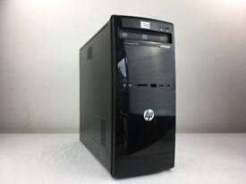 WINDOWS 7 PRO HP 500B TOWER COMPUTER INTEL DUAL CORE 2.50GHz PC - 4GB -160GB