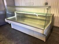 Counter service display fridge 2m for restaurant takeaway pizza cafe shops