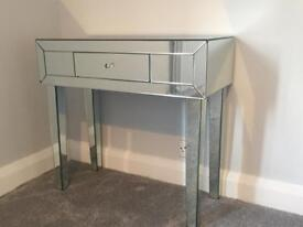 Stunning glass mirrored console table dressing table