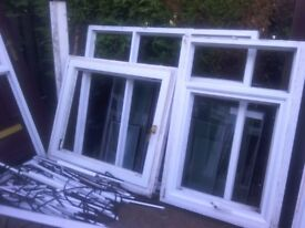 loads of upvc windows with bead glass and rubber complete selection for lean too or extension