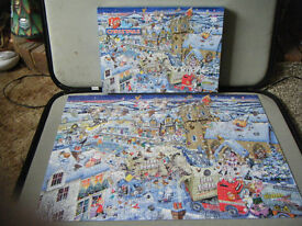 """1000 piece jigsaw puzzle """"I LOVE CHRISTMAS"""" by Mike Jupp (Gibsons). Fully complete."""