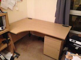 Large Corner Desk and Filing/ Drawer Unit