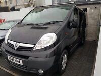 Black Vauxhall Vivaro Sportive Crew Cab Van