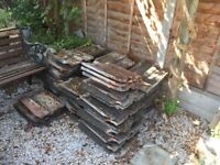 Clay Double Roman Roof Tiles Free to Collect