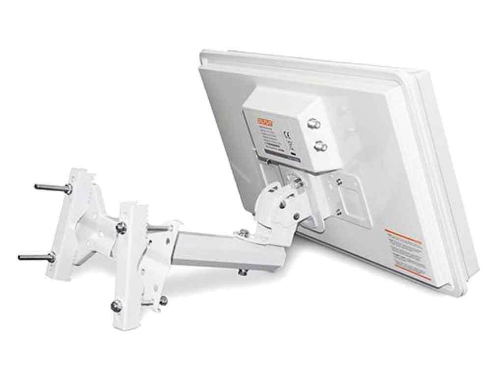 Selfsat H30D2+ Flachantenne Twin 2 Teilnehmer Fensterhalterung Standfuß Full HD