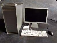 "Apple Power Mac with 20"" Cinema Display and Apple Keyboard"