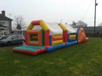 Assault course bouncy castle