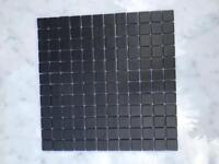 Black mosaic glass tiles Vidrepur New