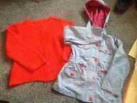 Girls 4-5 cardigan and 5-6 coat