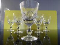 "6 x Stuart Crystal 'Glengarry' Wine Glasses 12.3cm (4.7/8"") tall"