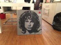 one off oil painting of jim morrison from the doors