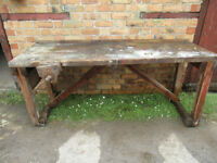 Woodworking Bench complete with Vice and Timber Stop