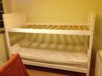 Single Bunkbed in white wood