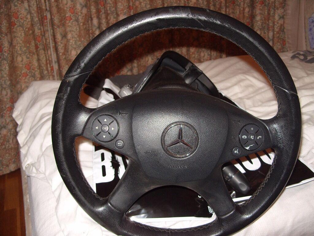 Mercedes benz c class steering wheel steering column and for Steering wheel lock mercedes benz