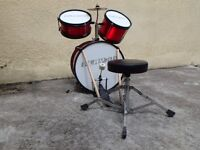 Children's drum set suitable for children from 7 to 10 in good condition and ready to start drumming