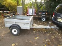 GALVANISED STEEL GOODS TRAILER (UNBRAKED) WITH 5FT A FRAME HITCH