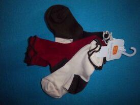 New 3 x Pairs Girls Socks Shoe Size 6-8.5 IP1