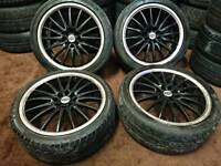 "Team Dynamic Jet RS 17"" 4x100 4x108 alloy wheels + tyres ford honda toyota nissan"
